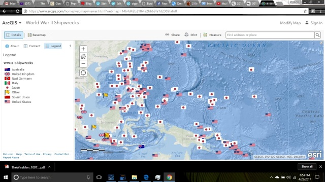 WW2 Shipwrecks - South and Central Pacific